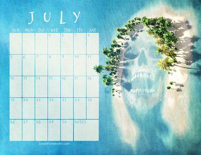 July 2020 Creepy Calendar From Lynne Hansen Art